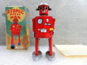ブリキロボット アトミックロボットマン 赤 箱付き 買取