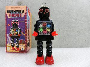 ブリキ ロボット HIGH-WHEEL ROBOT ハイホイールロボット 箱付き