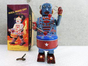 ブリキ ロボット ミュージカル ドラマー ロボット 箱付き 買取
