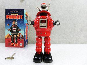 ブリキ プラネットロボット レッド 箱付き 管理0606VVD
