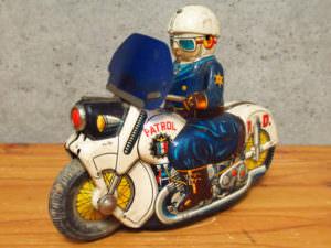 当時物 ポリスバイク ウサギ屋 ブリキ レトロ 玩具