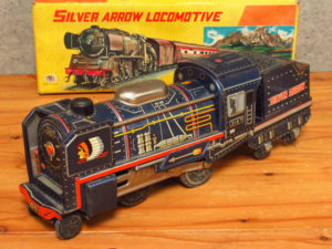SILVER ARROW 3187 昭和 レトロ ブリキ 汽車 玩具 箱付き