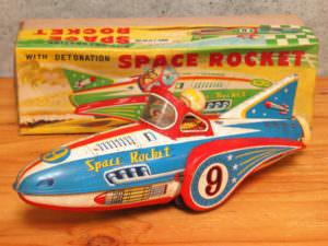 増田屋 SPACE ROCKET スペースロケット ブリキ 玩具  昭和 レトロ 玩具 箱付き